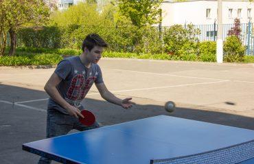 Завершились соревнования по настольному теннису.