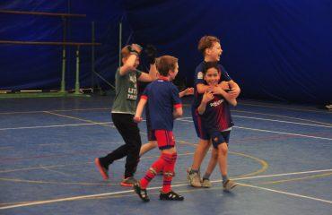 В товарищеском матче по мини-футболу впервые приняли участие юные премьеровцы. 4
